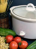 Crockpot 2. Crockpot with vegetables Stock Photography