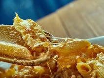 Crockpot pasta Arkivfoto