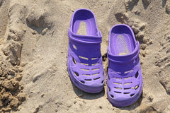 Crocks in sand Stock Image