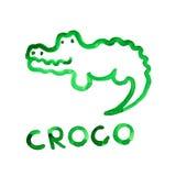 Croco Abbildung passte sich für die Vorstellung des Kindes an Lizenzfreie Stockbilder