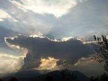 Croco-wolk Stock Afbeeldingen