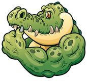 crocodile illustration stock