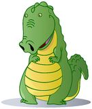 Crocodile. A cute crocodile isolated on the white background Stock Images