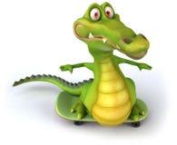Crocodile. Fun crocodile, 3d generated character Stock Photo