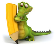 Crocodile. Fun crocodile, 3d generated character Stock Images