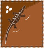 Crocodile. A illustration based on aboriginal style of dot painting depicting Crocodile vector illustration