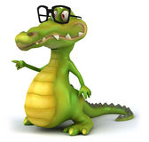 Crocodile. Fun crocodile, 3d generated character vector illustration