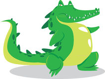 Crocodile. Vector illustration of cute green crocodile Royalty Free Stock Images