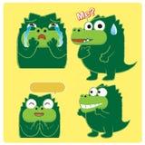 Crocodile Acting 03. Crocodile Acting ,emotion,character design Royalty Free Stock Photo