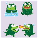 Crocodile Acting 02. Crocodile Acting,emotion,character design Royalty Free Illustration