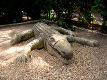 Crocodile African sculpture Royalty Free Stock Images