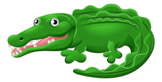 Crocodile or Alligator Animal Cartoon Character Stock Photography