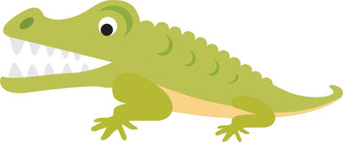 Crocodile or alligator cartoon Royalty Free Stock Images