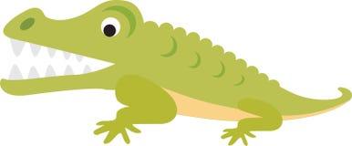 Crocodile or alligator cartoon Royalty Free Stock Images
