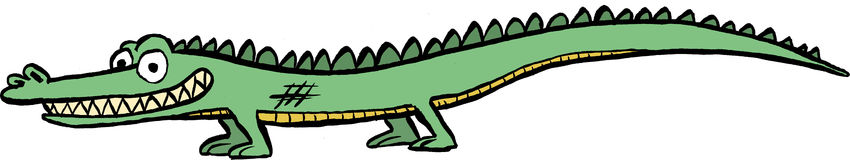 Crocodile / Alligator Cartoon Image. An image of a smiling crocodile / alligator Stock Photography