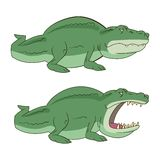 Crocodile, alligator vector illustration Royalty Free Stock Photo