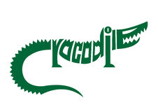 Crocodile alphabet logo Royalty Free Stock Photos