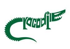 Crocodile alphabet logo. Vector royalty free illustration