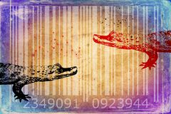 Crocodile barcode animal design art idea Stock Photos
