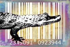 Crocodile barcode animal design art idea Stock Image