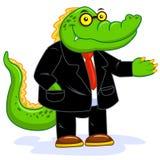 Crocodile businessman Royalty Free Stock Image