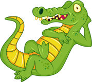 Crocodile cartoon Royalty Free Stock Image
