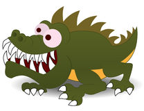 Crocodile cartoon character illustration Stock Images