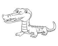 Crocodile cartoon Stock Image
