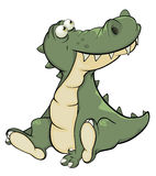 Crocodile. Cartoon Stock Image