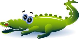 Crocodile. Cartoon image isolated on white royalty free illustration