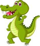 Crocodile cartoon waving Royalty Free Stock Photos