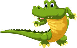 Crocodile cartoon. On a white backgrund royalty free illustration