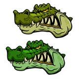 Crocodile character head with bared teeth Royalty Free Stock Image