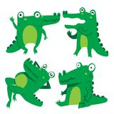 Crocodile character vector design stock illustration
