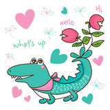 Crocodile cute but no cute Royalty Free Stock Photos