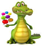Crocodile d'amusement illustration libre de droits