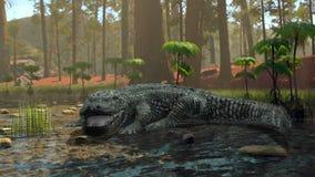 Crocodile. 3D CG rendering of a crocodile royalty free illustration