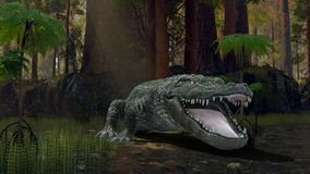 Crocodile. 3D CG rendering of a crocodile stock illustration
