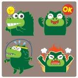 Crocodile 04 de action illustration de vecteur