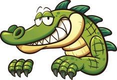 Crocodile de bande dessinée Photographie stock