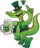 Crocodile de vert de jour de St Paddys Images stock
