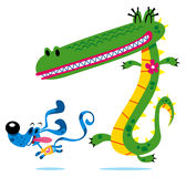Crocodile & dog Royalty Free Stock Images