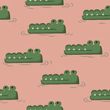 Crocodile doodle Royalty Free Stock Photography