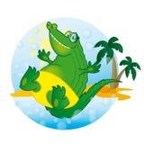 Crocodile ensoleillé Photo stock
