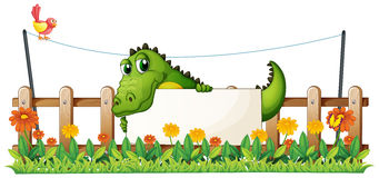 A crocodile in the fence Royalty Free Stock Photos