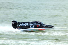 Crocodile flying on the water. Team Mad Croc was driving at the free practice at GP of China Royalty Free Stock Photo