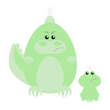 Crocodile and Frog Angry Stock Image