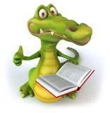 Crocodile. Fun crocodile, 3d generated character stock illustration