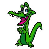 Crocodile funny cartoon Royalty Free Stock Images