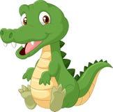 Crocodile heureux de bande dessinée Images stock